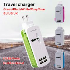 $ Number pies de alta Calidad Cable de Alimentación de 4 Puertos USB + + Un Enchufe de Pared Regleta Socket Cargador de Viaje/Home EE.UU. UE UK Plug Para Smartphone