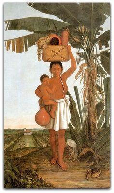 Albert Eckhout. MulherTupinambá. Óleo sobre tela, 265 X 157 cm. 1641. Museu…