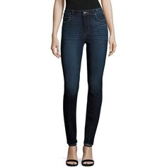 PAIGE Hoxton Ultra Skinny Jeans ($199) ❤ liked on Polyvore featuring jeans, denim skinny jeans, button-fly jeans, cut skinny jeans, skinny jeans and paige denim