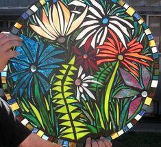 Free Patterns Mosaic Stepping Stones | splash of flowers