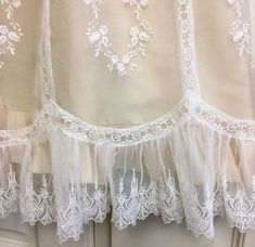 Vintage Yoke Silk Organza Christening Gown with Silk Dupioni image 3 Baptism Outfit, Christening Outfit, Christening Gowns, Wedding Gown Preservation, Blessing Dress, Affordable Wedding Venues, Linens And Lace, Heirloom Sewing, Lace Ribbon