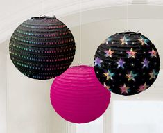 Disco Paper Lanterns are a groovy way to dress up your party! Featuring 3 designs, these paper lanterns are great decorations to hang above your disco party floor. Disco Party Decorations, Party Centerpieces, Lanterns Decor, Paper Lanterns, Party Stores, Party Shop, House Party, Rock Star Party, Ppr