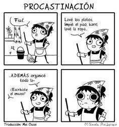 Procrastinación.