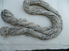 :: Shifu Thread, spun paper :: Would love to make a scarf from hand cut and dyed paper ::