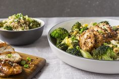 Soy-Glazed Chicken with Broccoli made easy. Discover Goodfood's Soy-Glazed Chicken with Broccoli meal kit delivery featuring farm-fresh ingredients. Broccoli Recipes, Chicken Broccoli, Glazed Chicken, Calories, Fried Rice, Make It Simple, Favorite Recipes, Meals, Fresh