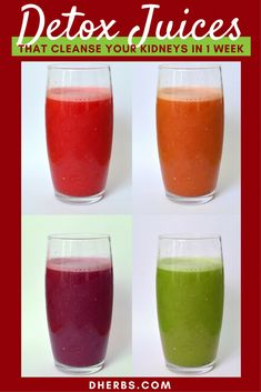 Cleanse Your Kidneys In 1 Week With These Juice Recipes - detox smoothie - Juice Cleanse Recipes, Cleanse Diet, Detox Recipes, Kidney Cleanse, Stomach Cleanse, Diet Detox, Liver Cleanse, Liver Diet, Detox Foods