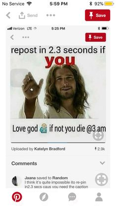 I don't think God and Jesus would want us to repost something about them because we felt threatened. I think they would want us to repost not because we felt threatened, but because we love them. Faith Quotes, True Quotes, Bible Quotes, Bible Verses, Prayer Quotes, Qoutes, God Loves You, Jesus Loves Me, Good Luck Quotes