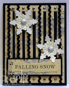 Christmas Greetings Card Handmade, I like the way this card is layered