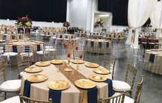 wedding reception set up in the exhibit halls Exhibit, Wedding Reception, Table Settings, Weddings, Marriage Reception, Wedding Receiving Line, Wedding, Place Settings, Wedding Reception Ideas