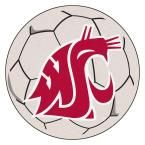 Ncaa Washington State University Cream (Ivory) 2 ft. 3 in. x 2 ft. 3 in. Round Accent Rug