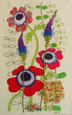 Introducing textile artist, Liz Cooksey... | Flowerona