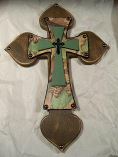 Camo Cross by Melody Pelham-Dvorak