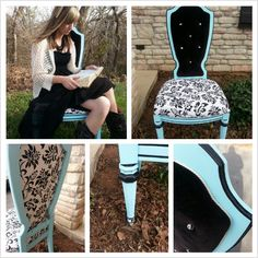 Painted and refabric chair