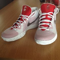 reputable site 0fcb5 d6f8d 2018 Fashion Nike Kyrie Popular 2018 Nike Kyrie 1 ID Pure Platinum Silver  Red