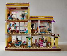 Rear view of the modified Friends LEGO beach house.