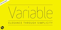 Variable - Webfont & Desktop font « MyFonts