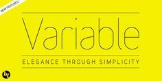 Variable - Webfont & Desktop font « MyFonts