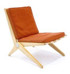 Scissor chair by Charlotte Periand, 1947.