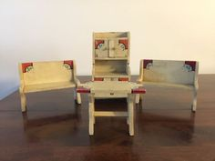 RARE FURNITURE Made from Vtg. Red Wing Shoe Wood Boxes SUPER NEAT