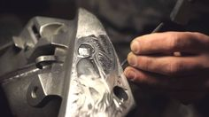 Hand engraving on Honda X4 by MesserEngraving