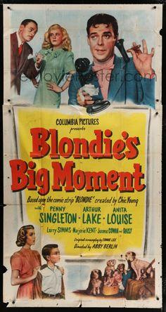 Blondie's Big Moment (1947) Stars: Penny Singleton, Arthur Lake, Larry Simms, Marjorie Ann Mutchie, Daisy, Anita Louise ~ Director: Abby Berlin