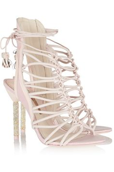 Sophia Webster|Lacey crystal-embellished leather sandals|NET-A-PORTER.COM #accessories #tie #shoes #sandals