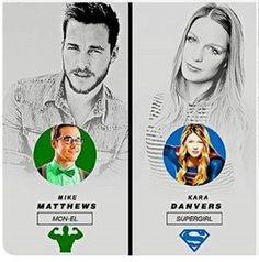 Totally cropped this out from another pic. Supergirl 2, Kara Danvers Supergirl, Robert Wood, Chris Wood, Kara And Mon El, Girl Memes, Melissa Benoist, Otp, Dc Comics