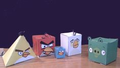 Cubee Angry Birds. No tape or glue required :)