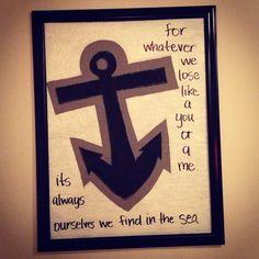 Anchor art #anchor #quotes #ee Cummings