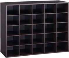 Closet Shoe Organizer Storage Cabinet Cube, 25 Pair Floor Cubby   Espresso Awesome Ideas