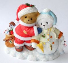 Heidi´s Cherished Teddies Galerie: SCOTT and SHEILA - 15th SANTA - FRIENDSHIP IS SHARING THE WARMTH OF THE SEASON WITH YOU (4013428)