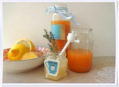 """""""Zaubersaft für kleine Schniefnasen""""- Ingwer-Honig-Tee mit Vitaminsaft"""