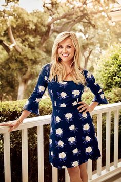 6ecd5355e27 Reese Witherspoon in the Southern Living Dress by Draper James Logan  Lerman