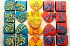 Colorful wedding cookies By bebesma on CakeCentral.com