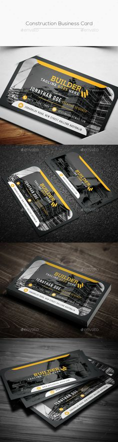 Construction business card templates construction business cards construction business card reheart Images