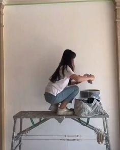Original Handmade Oil Painting,Modern Art,Art Decor by ArtWindStudio Wall Painting Decor, 3d Wall Art, Mural Art, Plaster Art, Plaster Walls, Plaster Crafts, Wall Sculptures, Sculpture Art, Diy Canvas Art