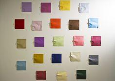Kumi Yamashita, Origami, 2011 creased Japanese paper, single light source, shadow.