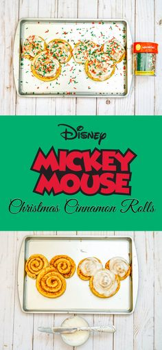 Mickey Mouse Christmas Cinnamon Rolls - The Trophy WifeStyle