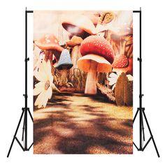 5x7ft Vinyl Mushroom Photography Studio Prop Backdrop Gallery Background