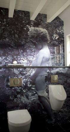 Het is geen badkamer maar moést 'm pinnen om te laten zien dat je van het kleinste kamertje in huis kan je nog best wat leuks maken.