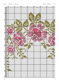 Cross Stitch Boards, Cross Stitch Rose, Cross Stitch Flowers, Cross Stitch Patterns, Filet Crochet, Baby Dress Patterns, Bargello, Embroidery Designs, Cross Stitch Font