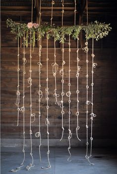"""Tie the Knot"" Decor backdrop for photos or hanging against the wall behind a focal point in the room."