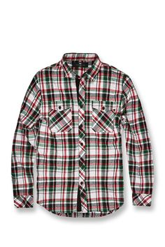 321671c54042e0 Extra Off Coupon So Cheap New Men s Jordan Craig Tacoma Flannel Shirt  Green-White-Red Size New!