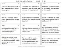 math worksheet : 1000 images about math problem solving on pinterest  word  : Two Step Addition And Subtraction Word Problems Worksheets