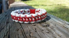Baseball bracelet . Hey, I found this really awesome Etsy listing at https://www.etsy.com/listing/204987557/baseball-paracord-bracelet-free-shipping