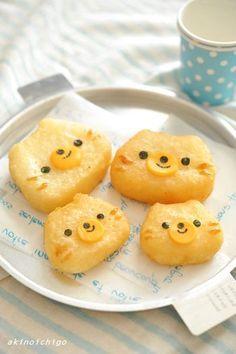 Kawaii Bento, Cute Bento, Easy Snacks For Kids, Kids Meals, Dorayaki Receta, Japenese Food, Kawaii Cooking, Cute Donuts, Bento Recipes