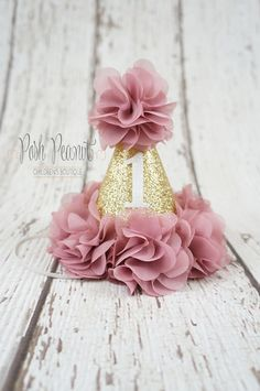 1st birthday hat girls birthday hat girl 2nd by PoshPeanutKids …
