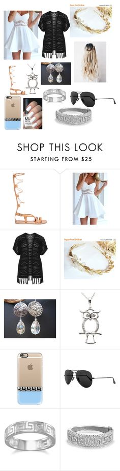 """Athena"" by keilani-king ❤ liked on Polyvore featuring Ancient Greek Sandals, Verpass, Laurel Wreath Collection, Malin + Mila, Casetify, Ray-Ban, BillyTheTree, Bling Jewelry and plus size clothing"