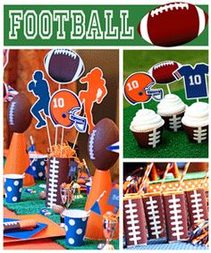 Cute party printables for football parties.