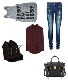 """""""Sorry I'm Not Sorry"""" by musicheartbeatjj ❤ liked on Polyvore featuring Yves Saint Laurent, Vero Moda, Diane Von Furstenberg and 3.1 Phillip Lim"""